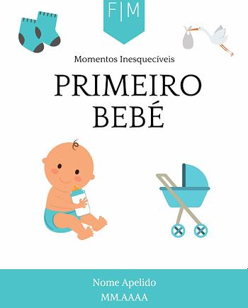 Rótulo personalizável - Bebé - Primeiro bebé com iniciais, nome e data personalizáveis