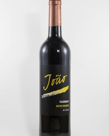 Garrafa de vinho tinto com rótulo personalizado- Aniversário - com nomes personalizados em dourado
