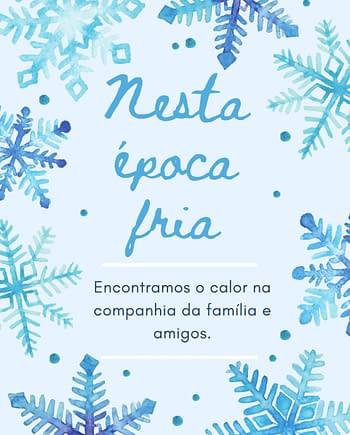 Rótulo de Natal com flocos de neve e mensagem