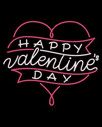 Rótulo de dia dos namorados, coração em fundo preto