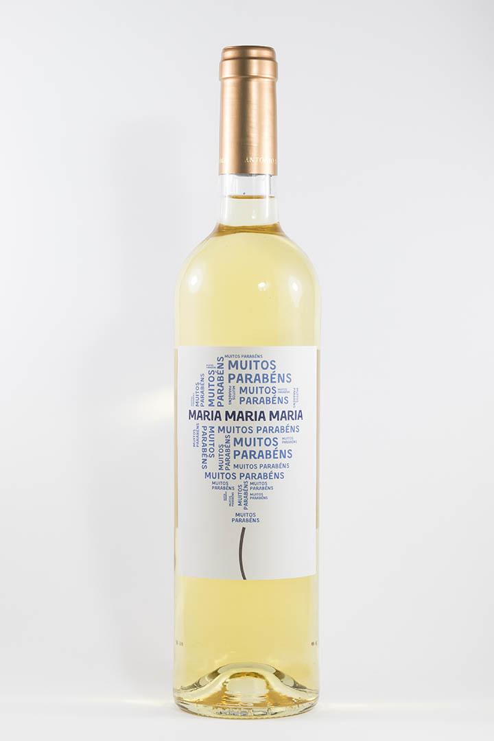 Garrafa de vinho com rótulo personalizado - Aniversário - Balão com nome em azul