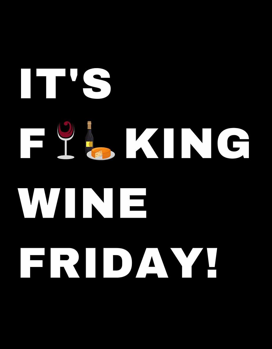 Rótulo para festas - It's fucking wine friday