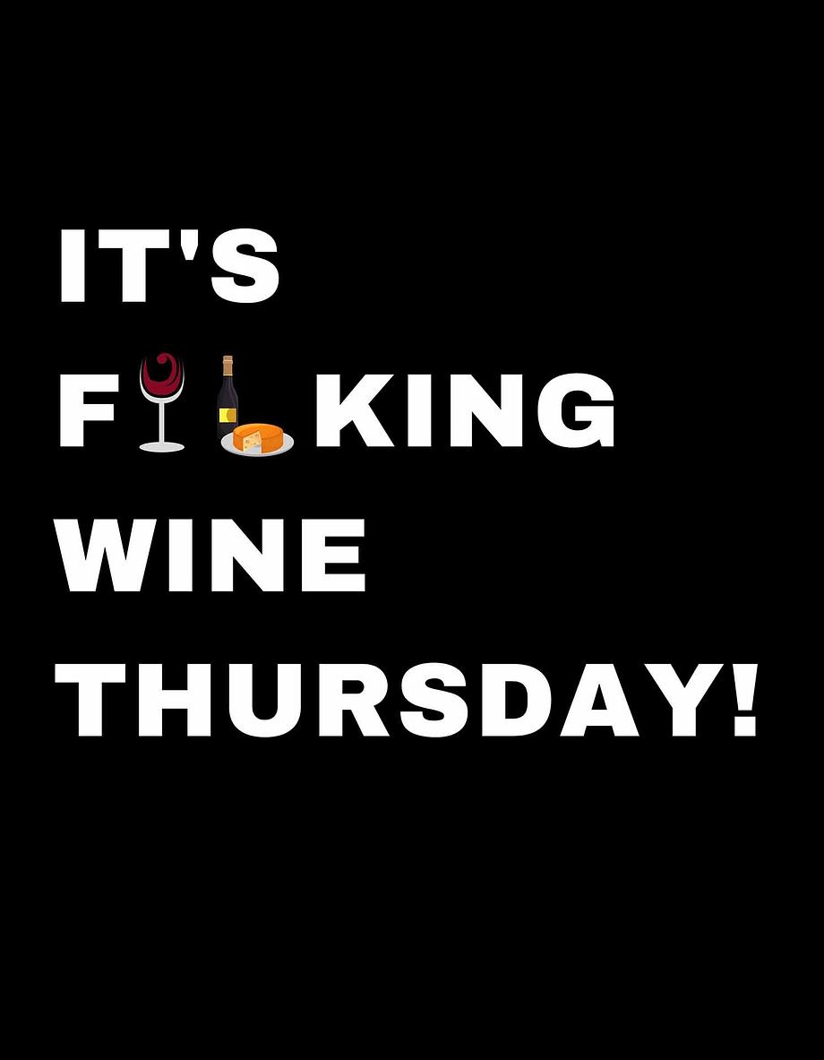 Rótulo para festas - It's fucking wine thursday