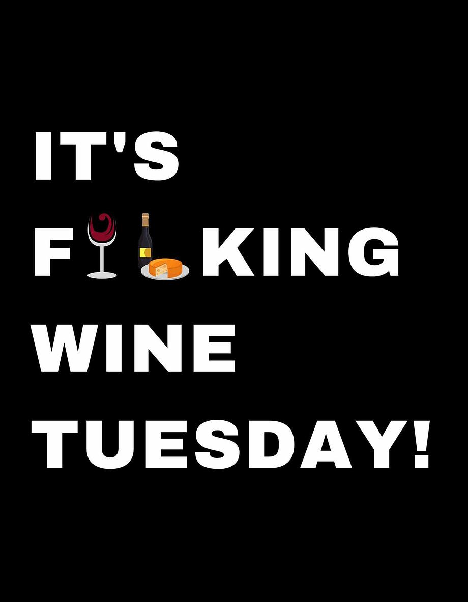 Rótulo para festas - It's fucking wine tuesday