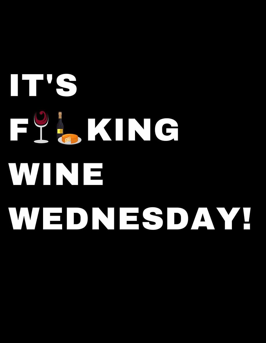Rótulo para festas - It's fucking wine wednesday