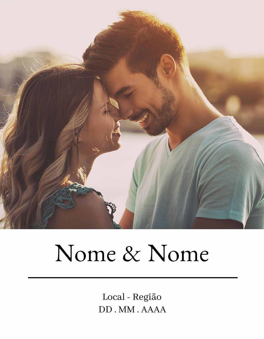 Rótulo personalizável - Casamento - Fotografia: nomes, local e data personalizáveis em fundo branco