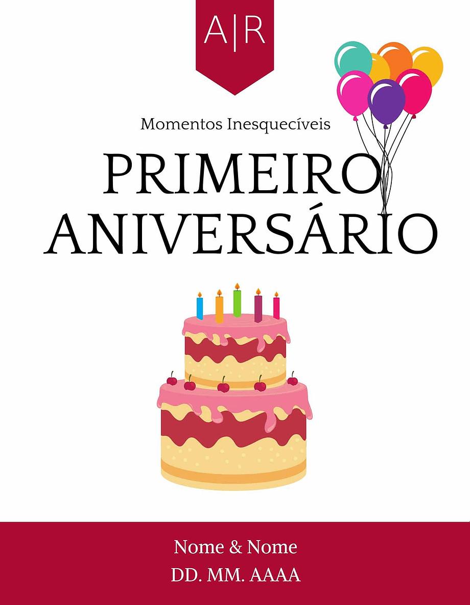 Rótulo personalizável - Casamento - Primeiros momentos: Primeiro Aniversário com nomes e data personalizáveis