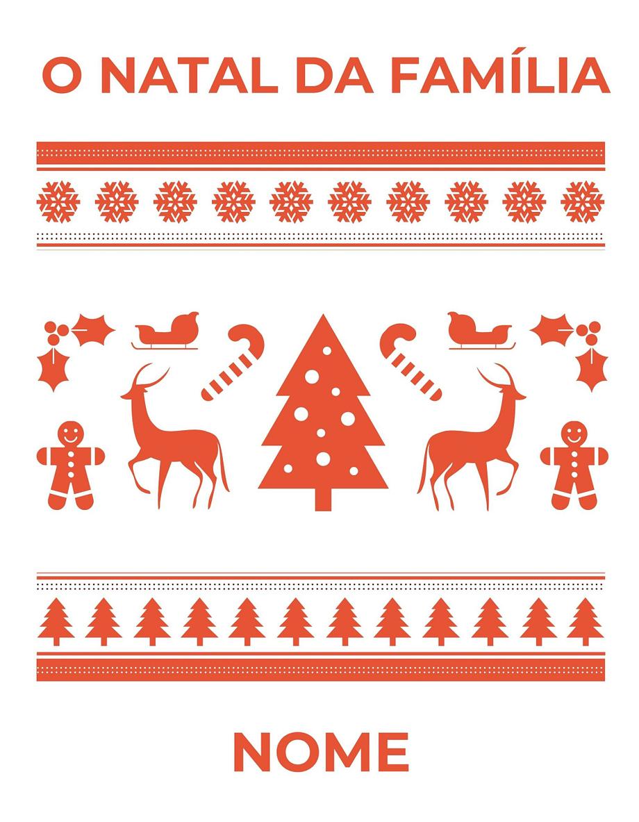 Rótulo de Natal personalizável com nome da família