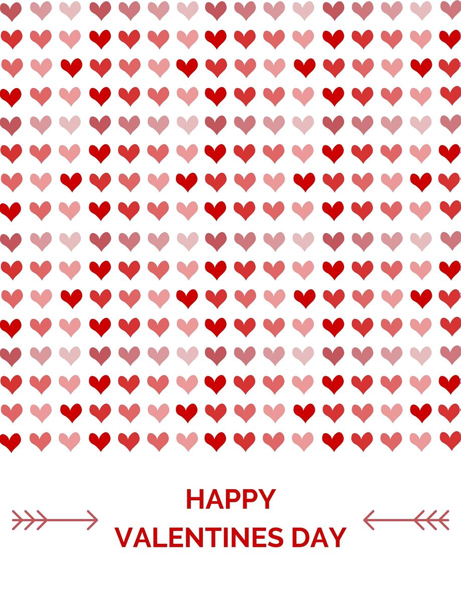 Rótulo de dia do namorados - pequenos corações