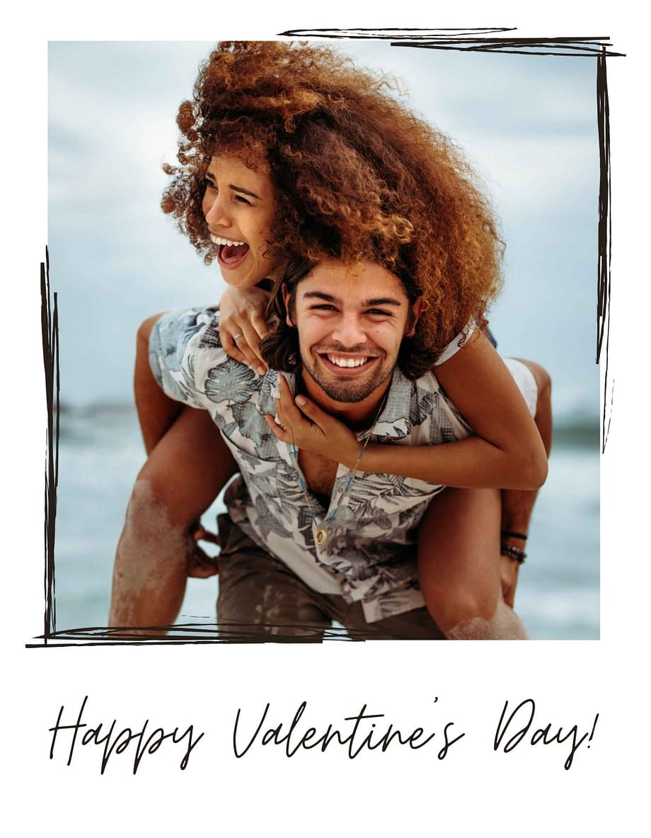 Rótulo de dia dos namorados, com foto em fundo branco