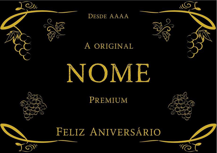 Rótulo de vinho personalizado aniversário
