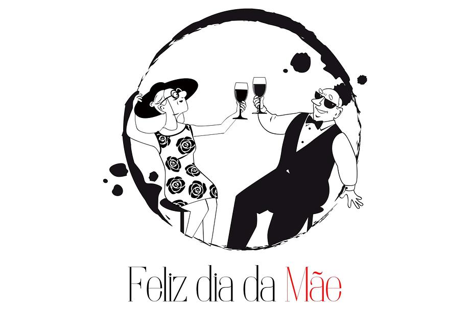 Rótulo de vinho personalizado para dia da mãe