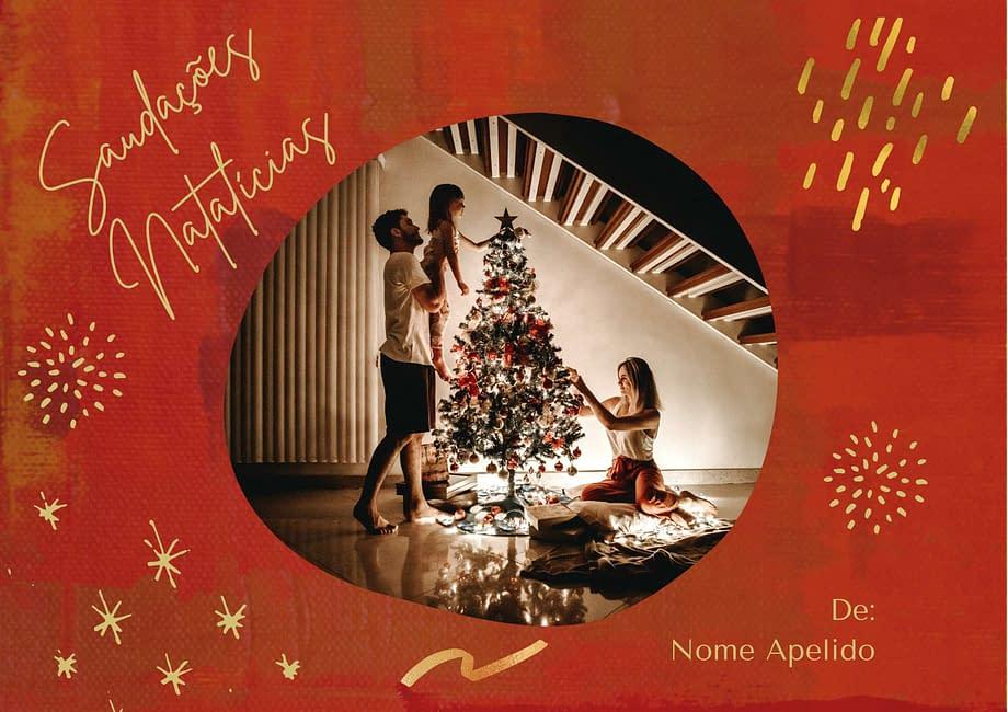 Rótulo de vinho personalizado para o Natal