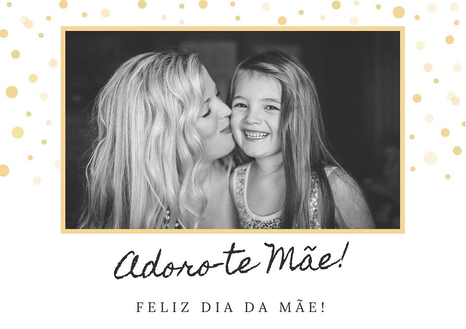 Rótulo personalizável de dia da mãe